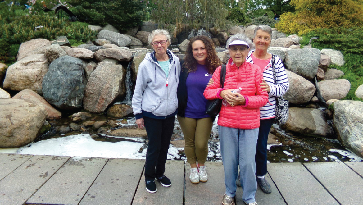 Residents visiting the asian gardens